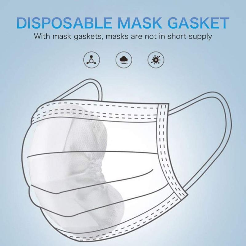 100 Pcs Disposable Mask Pad Dust Mask Filter Gasket Replaceable Facial Mask Pad Mouth Face Mat For All Kinds Of Masks