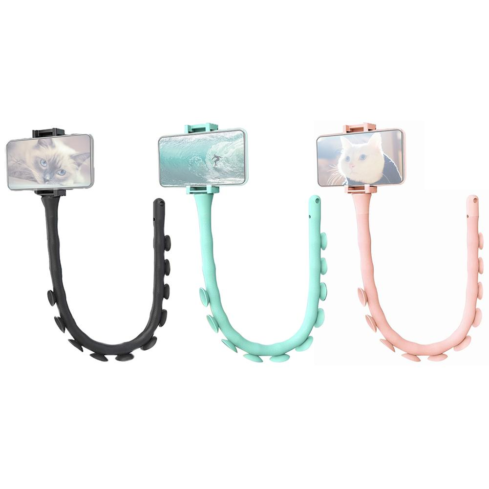 Mobile Phone Holder Caterpillar Cell Phone Bracket Bluetooth Remote Control Suction-up Phone Holder For Home Kitchen Bathroom