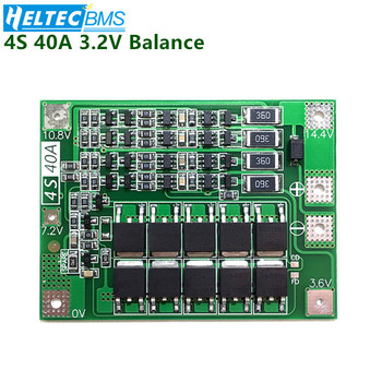 цена на BMS 4S 40A BMS With Balance 12.8V 14.4V 18650 Lifepo4  BMS  battery protection board/BMS board For Drill Motor