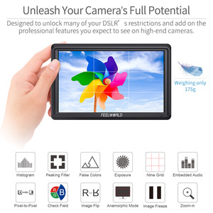 Image 5 - FEELWORLD S55 5.5 Inch IPS on Camera Field DSLR Monitor Focus Assist 1280x720 Support 4K HDMI Input DC Output Include Tilt Arm