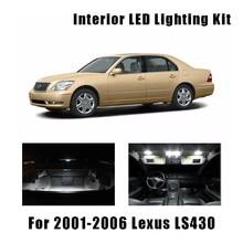 18pcs White Canbus LED Bulbs Interior Map Dome Trunk Light Kit For 2001-2006 Lexus LS430 License Plate Door Lamp