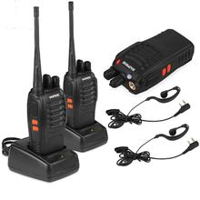 BAOFENG BF-888S Walkie talkie UHF Two way radio baofeng 888s 400-470MHz 16CH Portable Transceiver with Earpiece