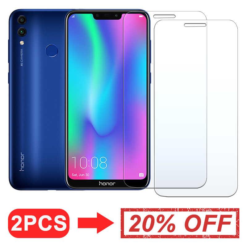 Honor 8x 8c vidrio para Huawei 8s 8lite Protector de pantalla Huawai X8 vidrio templado película protectora para teléfono Huaweii c8 Glas proteger