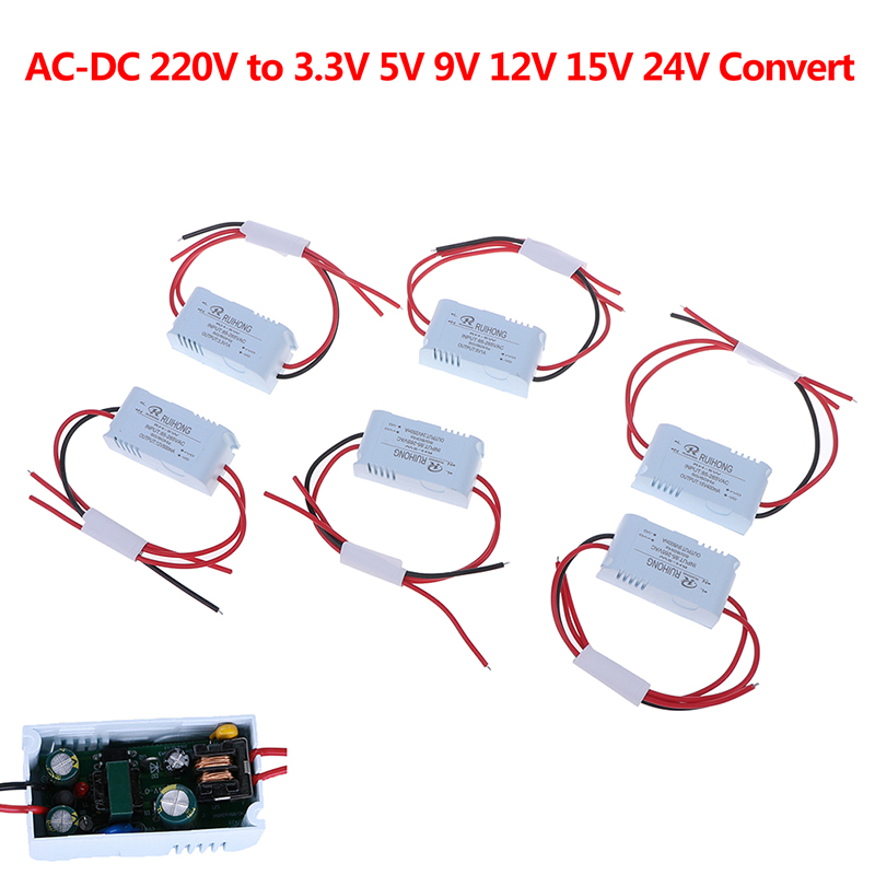 1PCS AC-DC <font><b>Power</b></font> <font><b>Supply</b></font> Module AC 1A 5W 220V to DC 3V 5V 9V 12V 15V <font><b>24V</b></font> Mini Convert image
