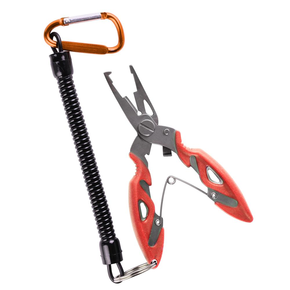 Multi Functional Fishing Pliers Scissors Line Cutter Hook Remover Fishing Clamp Accessories Tools With Lanyards Spring Rope 5