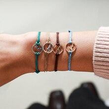 Docona, набор разноцветных многослойных браслетов для женщин, горный пик, подвески, регулируемый браслет, браслет, вечерние ювелирные изделия 6914