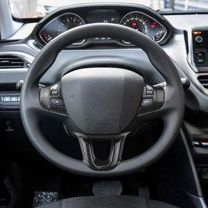 Image 2 - Zlord 3 Teile/satz Auto Lenkrad Dekoration Abdeckung Trim Aufkleber Fit für Peugeot 2008 208 308 2014 2015 2016 2017 2018 2019