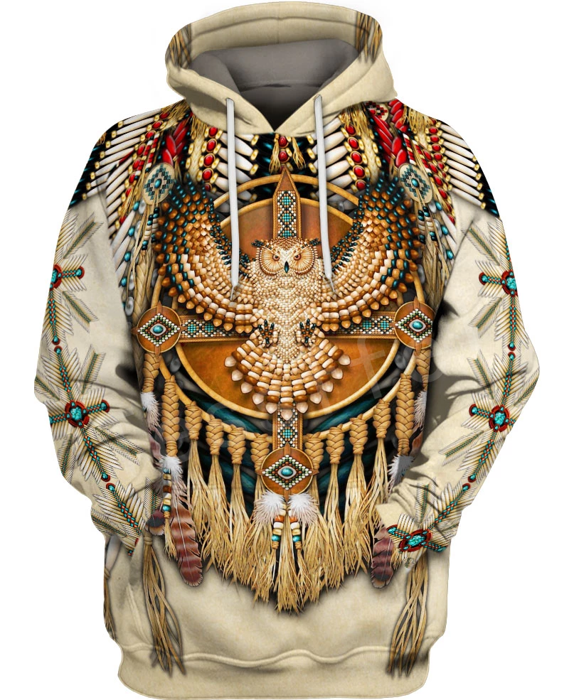 Tessffel Indian Native Harajuku Casual Colorful Tracksuit New Fashion 3Dfull Print Hoodie/Sweatshirt/Jacket/Men Women S16