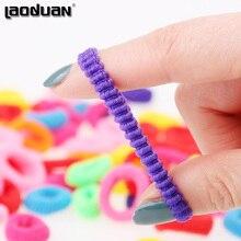 200 Pcs Colorful Child Kids Hair Holders Cute Rubber Hair Band Elastics Accessories Girl Women Charms