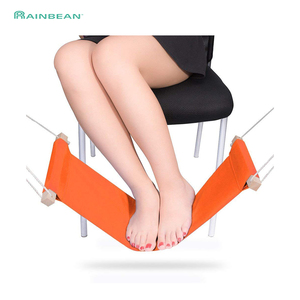 Portable Feet Hammock Under Desk Foot Chair Care Tool Mini Adjustable Foot Hammock Travel Footrest for Airplane Outdoor OffIce(China)