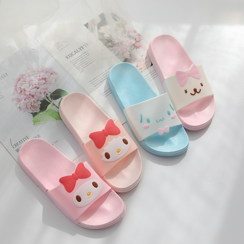 Cartoon jade guigou pudding dog melody bathroom sandals ladies summer indoor soft bottom slippers home slippers image