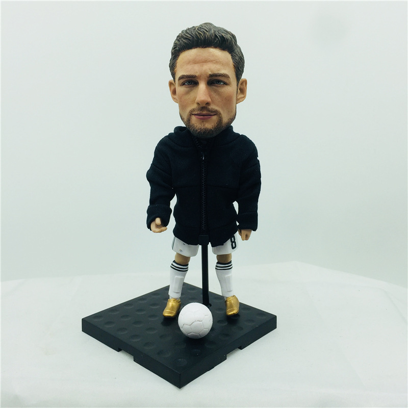 "13 Cm Height 5.1"" Soccer Doll Marchisio Figurines Choices Assembly DIY Action"