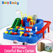 Baby Shining Educational Puzzle Children Railcar Toy Track Car Adventure Automobile League Rescue Game Boy Girl Birthday Gift