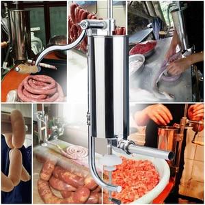 Image 3 - 3 л бытовой ручной колбасный шприц из нержавеющей стали ручной комбайн для приготовления колбасы вертикальная машина для наполнения колбасы