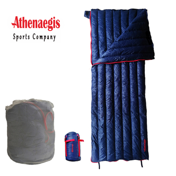 Athenaegis Envelope Ultralight White Gosse Down Filling Waterproof Camping Sleeping Bag Quilt Outdoor Blanket