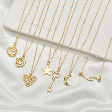 2019 Sale Kolye Moana For I Love You Necklace Chains Choker Collares Cross-border Pendant Sautoir Leaves Dolphin Clavicle Chain