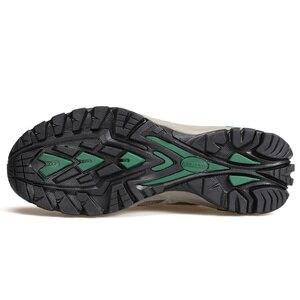 Image 4 - Мужская обувь для походов HUMTTO, спортивная обувь для активного отдыха, кемпинга, тактические кроссовки из коровьей замши, дышащая нескользящая обувь большого размера