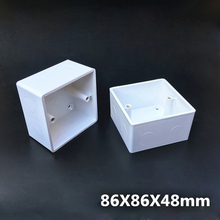 5pcs  86 Type Electrical Mounting Box Wall Switch Wiring Junction Boxes Heightening and Thickening 86*86*48mm