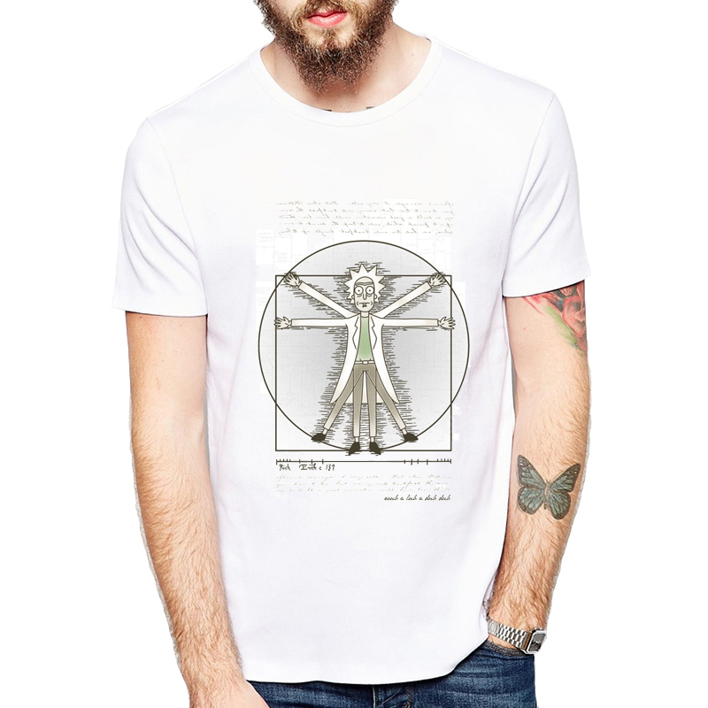 Peace Among Worlds Folk Tee Shirt Homme Rick And Morty TShirt Men Camisetas New Arrival Pickle Rick Men T Shirt Anime T-shirts