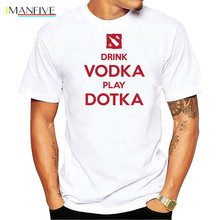 IMANFIVE T shirt Navi Natus Vincere fnatic IG Invictus CLOUD9 DK Alliance NEWBEE DOTA 2 Game Team Men Drink Vodka Play Dotka цена и фото