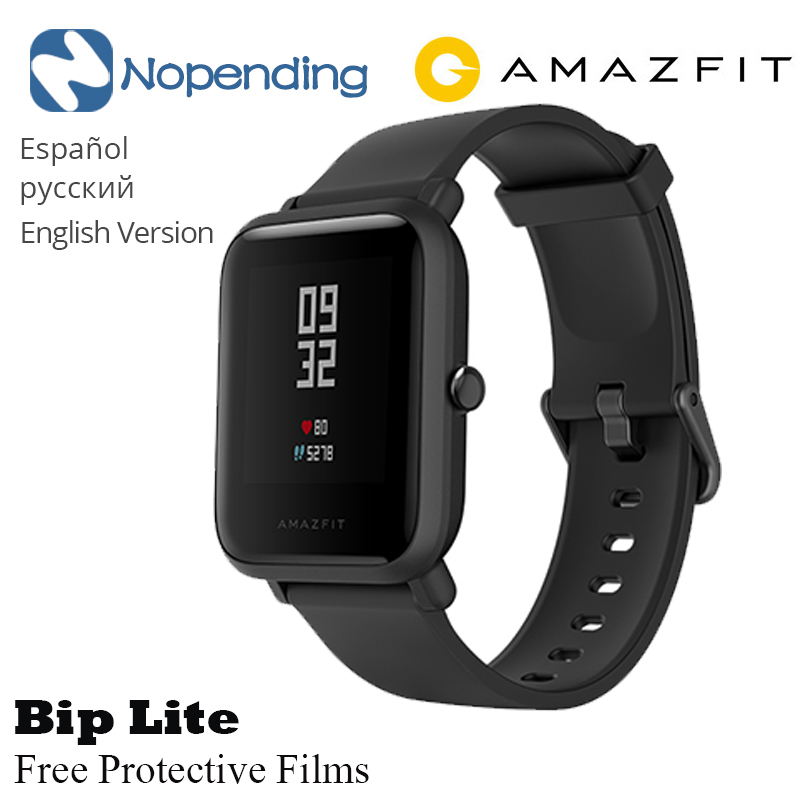 <font><b>AMAZFIT</b></font> Bip <font><b>Lite</b></font> Smart Watch Multiple Sports Global Edition Standby for 45 days Heart Rate Monitor New Activity Fitness tracker image