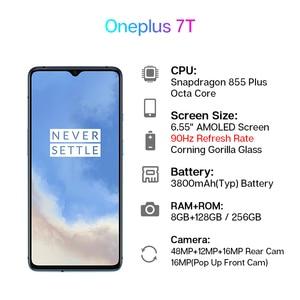 Image 2 - Global ROM OnePlus 7T 7 T Snapdragon 855 Plus Smartphone 90Hz Fluid Display 6.55 AMOLED Screen 48MP Triple Cameras UFS 3.0 NFC