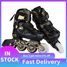 Fitness-Shoes Roller-Skates Adjustable-Size Adult Women's And Chrome-Ball-Bearing General