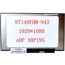 """140 """"Ноутбук nt140fhm n43 v80 ЖК экран матрица дисплей"""