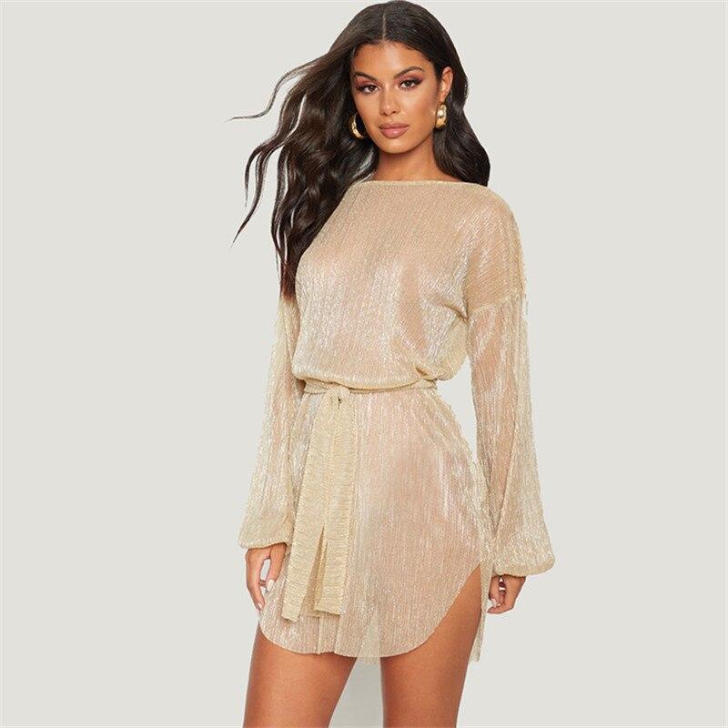 Sexy Sheer Net Mesh Glitter Tunic Beach Cover Up Long Sleeve Cover-ups Long Beach Dress Beachwear Beachwear Female Women Robe