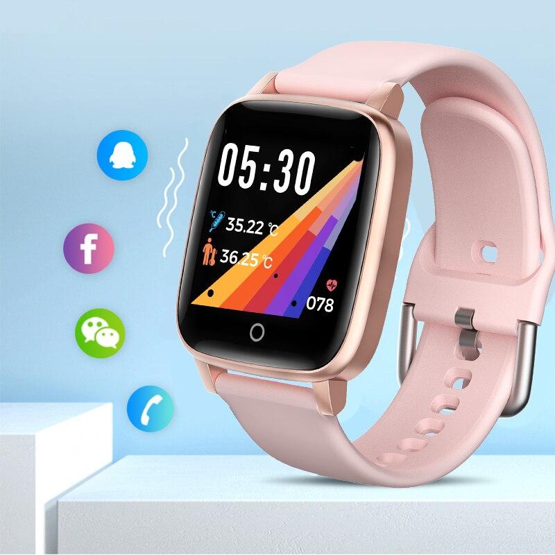 LIGE nouveau thermomètre montre intelligente femmes Sport sain fréquence cardiaque surveillance de la pression artérielle IP67 étanche dames Smartwatch + boîte