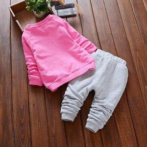 Новая одежда для маленьких девочек Лидер продаж, комплекты одежды для малышей свитер с рисунком и штаны, костюм комплект из 2 предметов для малышей, детская одежда с длинными рукавами