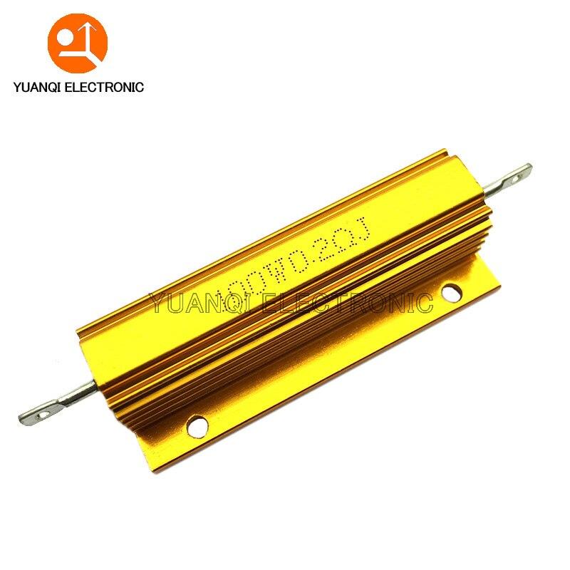 100W RX24 Aluminum Power Metal Shell Case Wirewound Resistor 0.01 ~ 100K 0.1 0.5 1 2 4 6 8 10 20 100 150 200 300 500 1K 10K ohm
