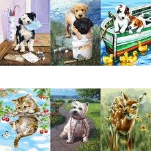 Распродажа картина маслом по номерам Красочные животные рисование