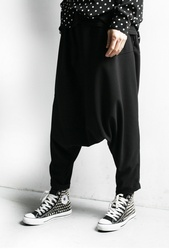Men's original Chinese style loose low-end baggy pants new Chinese embroidery men's Harlem Leggings