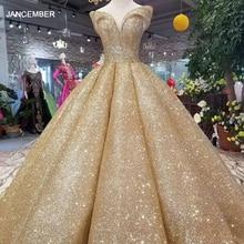فستان فاخر LSS107 دبي براق للنساء مناسب للخروج على الكتف وبتصميم جميل وذهبي براق وبتصميم منحنى عالي الجودة