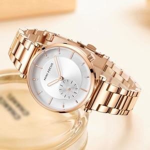 Image 3 - MINI FOCUS Women Watches Brand Luxury Fashion Ladies Watch 30M Waterproof Reloj Mujer Relogio Feminino Rose Gold Stainless Steel