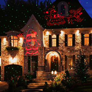 Image 5 - ALIEN Christmas Laser Projector Motion Red Theme Santa Elk Sled Static Green Dots Star Outdoor Waterproof Garden Tree Show Light