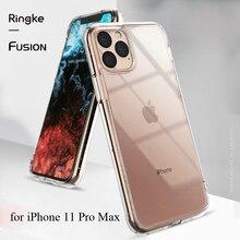 Ringke funda Fusion para iPhone 11 Pro Max, carcasa trasera de PC transparente y Marco suave de TPU, híbrida, militar, probada para iPhone nuevo (2019)