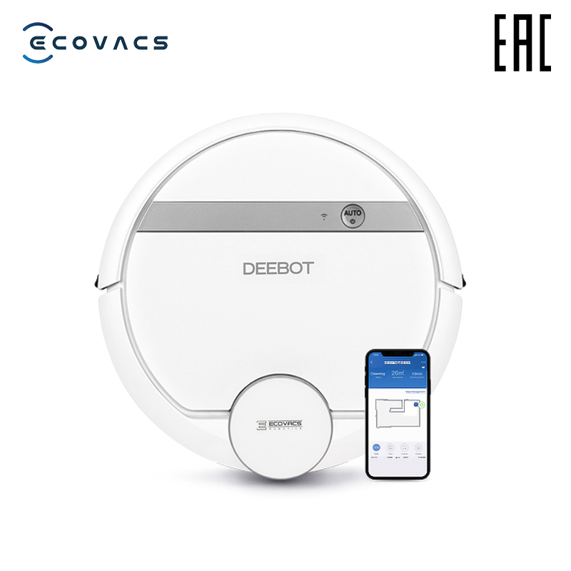 ECOVACS aspiradora inteligente Deebot DE55 con control de smartphone, aspiradora inteligente en húmedo y seco con escáner láser LDS