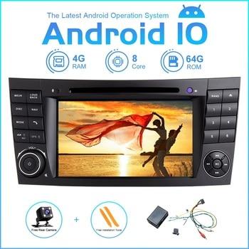 Android 10 Car Multimedia Player Auto Stereo For Mercedes Benz E-Class W211 E300 CLK W209 CLS W219 GPS Radio + Fiber Decoder