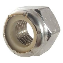 1/2-13 Nylon Insert Hex Lock Nuts, Stainless Steel 18-8, Plain Finish, Quantity 25