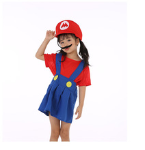 Adults and Kids Super Mario Bros Cosplay Dance Costume Set for New Year Gift Children Halloween Party MARIO & LUIGI