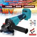 Для Makita 18V 100 мм 125 мм бесщеточный аккумуляторная ударная угловая шлифовальная машина DIY Мощность инструмент электрическая шлифовальная пол...