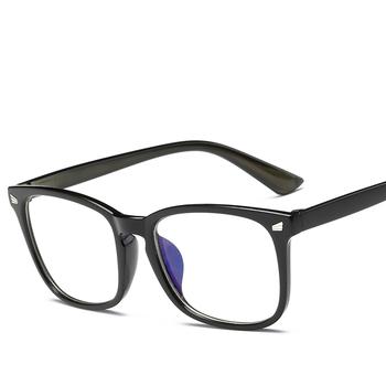 Dla dorosłych płaskie lustro kobiety Trend produkty okulary przezroczyste soczewki czarny rama z tworzywa sztucznego okulary tanie i dobre opinie NoEnName_Null Unisex GLASSES