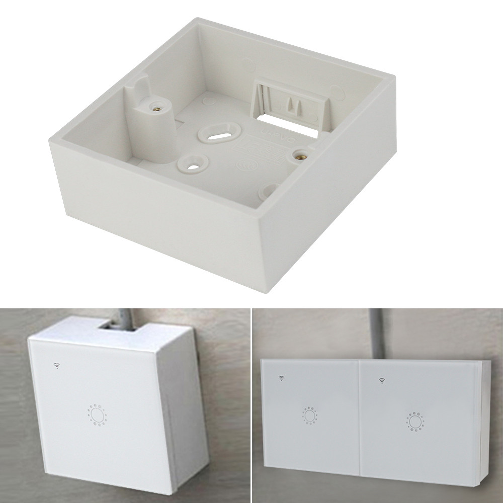 86mm*86mm*33mm External Wall Mounting Box 172*86*33mm Switch Socket Box External Cassette White For Any Position Of Surface
