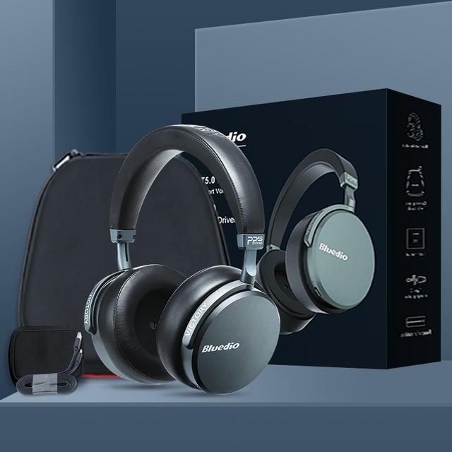 業bluedio V2ワイヤレスヘッドフォンbluetoothヘッドセットPPS12ドライバハイファイヘッドホンとマイクハイエンド電話