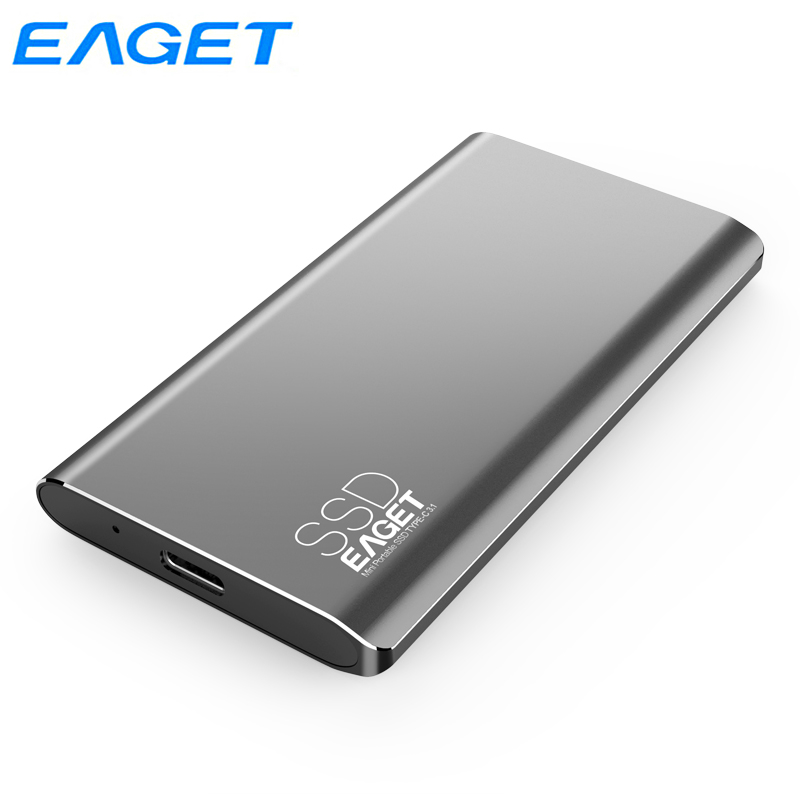 Eaget Type C External SSD 1TB 512GB 256GB 128GB USB 3.0 Portable SSD Hard Drive External Solid State Drive For Phone Laptop M1