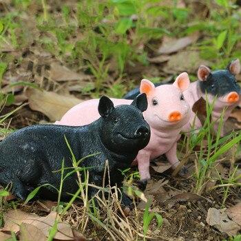 Garden Courtyard Landscape Simulation Animal Figurine Piggy Sculpture Creative Home Decoration Sincraft Resin Craft Ornament
