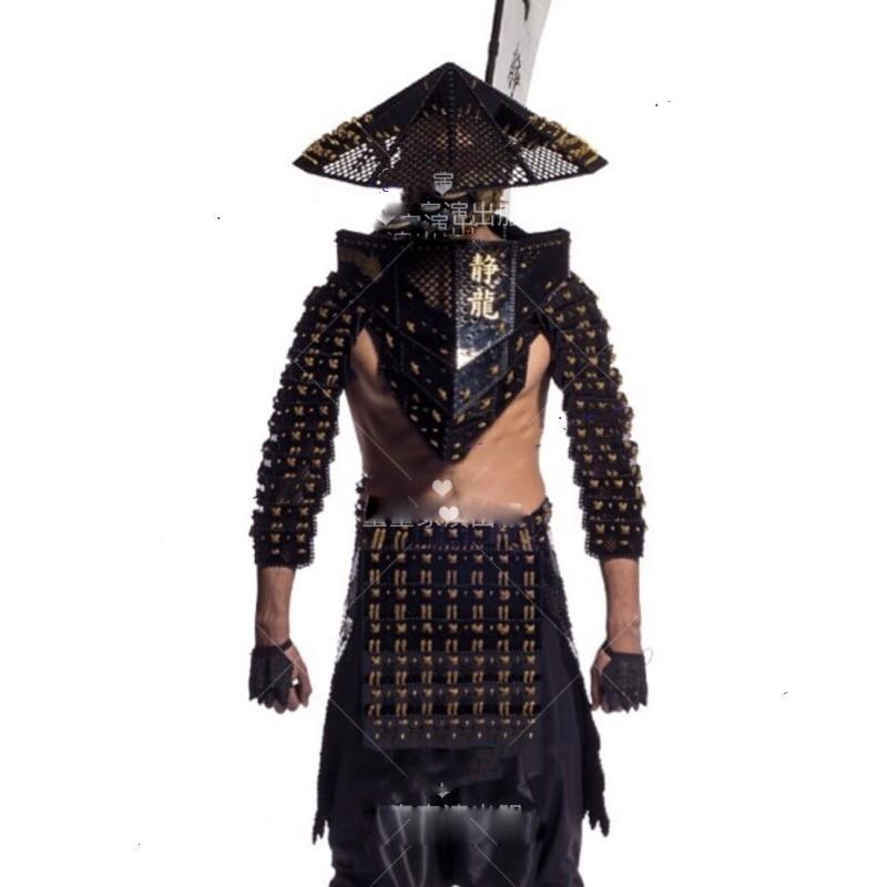 Modelo de passarela preto ninja bar gogo trajes estilo chinês trajes ds trajes japão ninja japonês cosplay traje