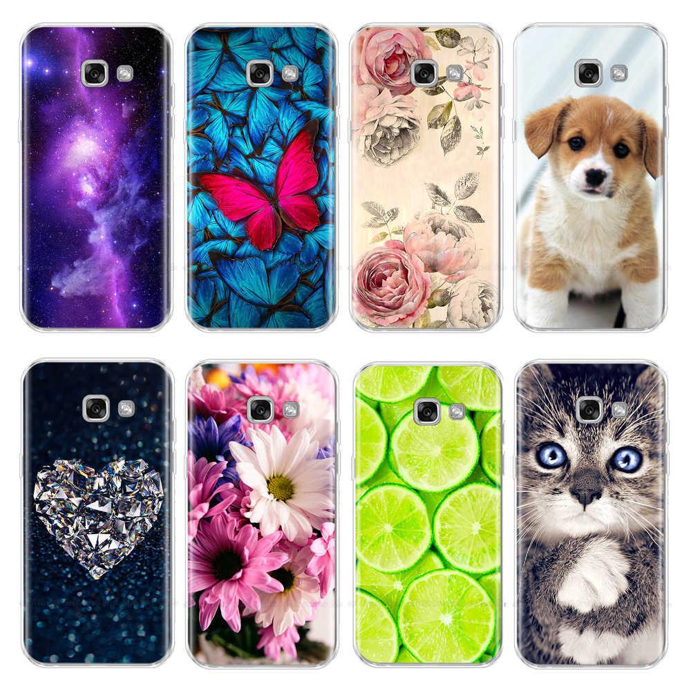 Cute Phone Case For Samsung Galaxy A3 2017 Case Cover Silicone Fundas For Samsung A3 2017 A320 A320F Cover Case Coque Bumper